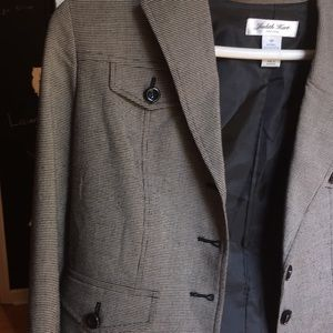 Jackets & Blazers - Black and gray suit jacket